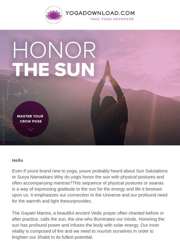 YogaDownload com: ☀ Why Yogis Honor the Sun | Master Your