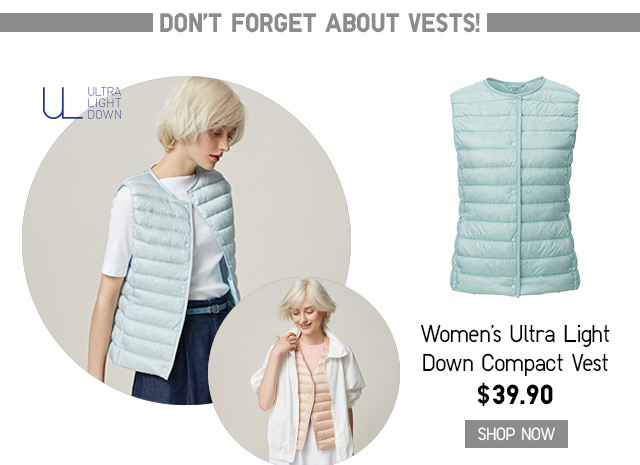 WOMEN'S ULTRA LIGHT DOWN COMPACT VEST - SHOP NOW