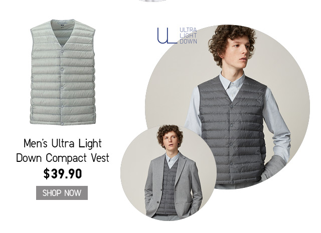 MEN'S ULTRA LIGHT DOWN COMPACT VEST - SHOP NOW