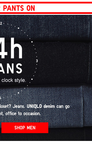 24 HOUR JEANS - ROUND THE CLOCK STYLE - SHOP MEN'S JEANS