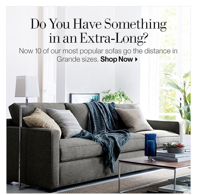 Ordinaire Extra Long Sofa