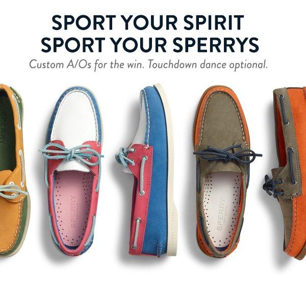 Show Your Spirit in Custom Sperrys
