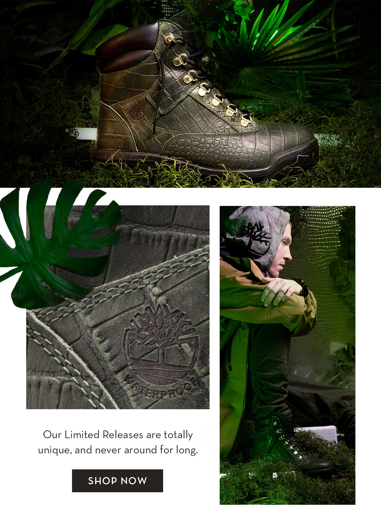 Timberland: Strike Fast. Limited Release Crocodylian. Milled  Milled