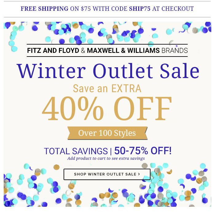 Fitz And Floyd: Up to 75% OFF…It's a BIG Outlet Sale | Milled