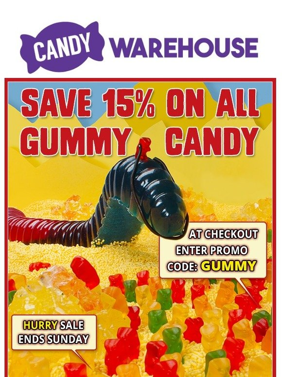 Candy Warehouse: Gummy Candy Sale This Weekend! | Milled