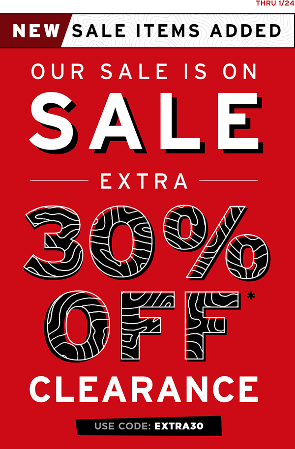 Extra 30% off Sale Items for 48Hrs Only