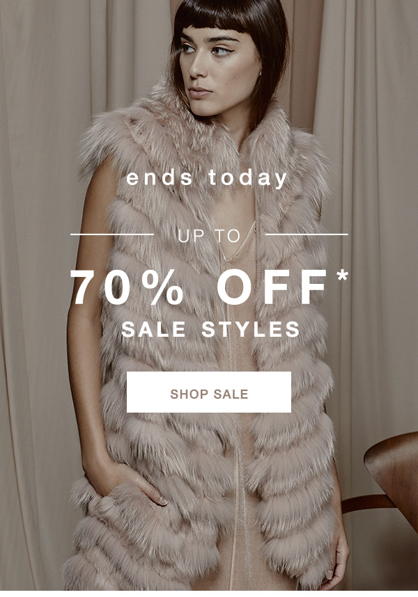 70% OFF SALE STYLES* >