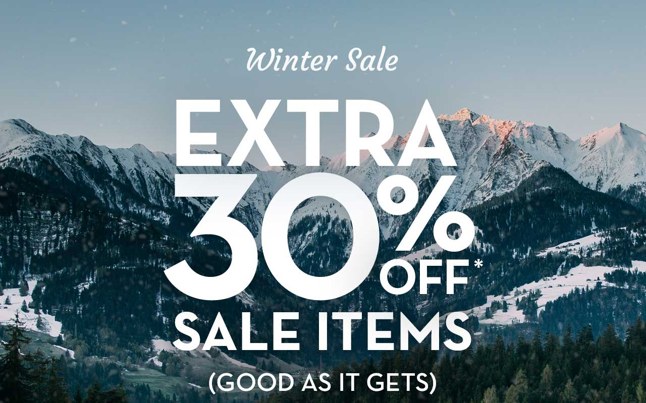 Winter Sale Extra 30% Off* Sale Items (Good As It Gets)