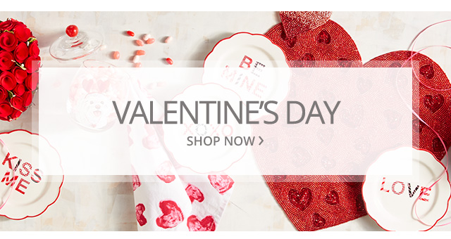 Valentines day. Shop now.