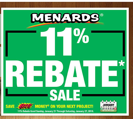 Menards Rebate Tracker