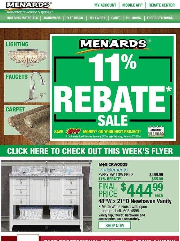 Menards: Get An 11% Rebate On Everything* This Week | Milled
