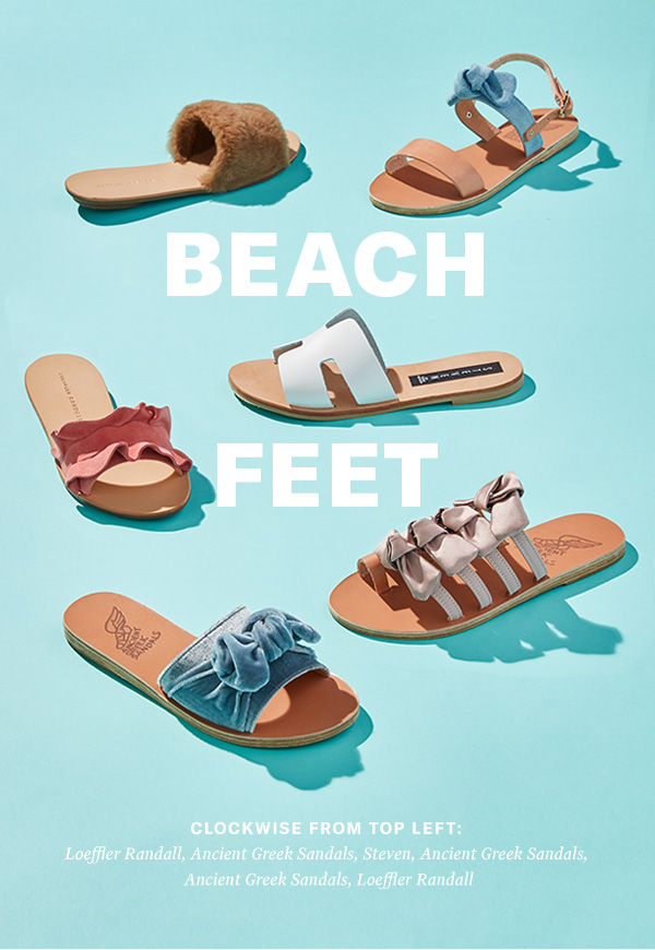 Our latest vacation-ready styles will have you counting the days 'til you can bare your toes.