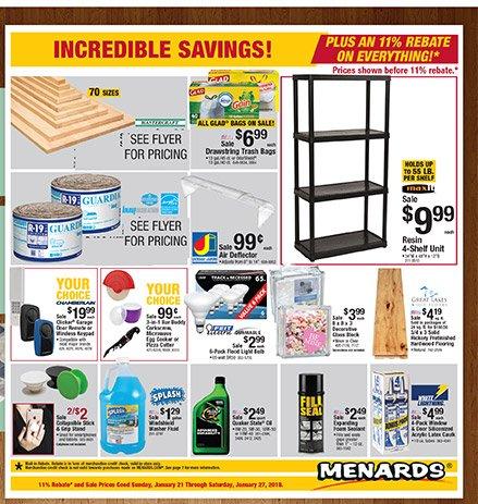 Menards: Incredible Savings PLUS An 11% Rebate On Everything