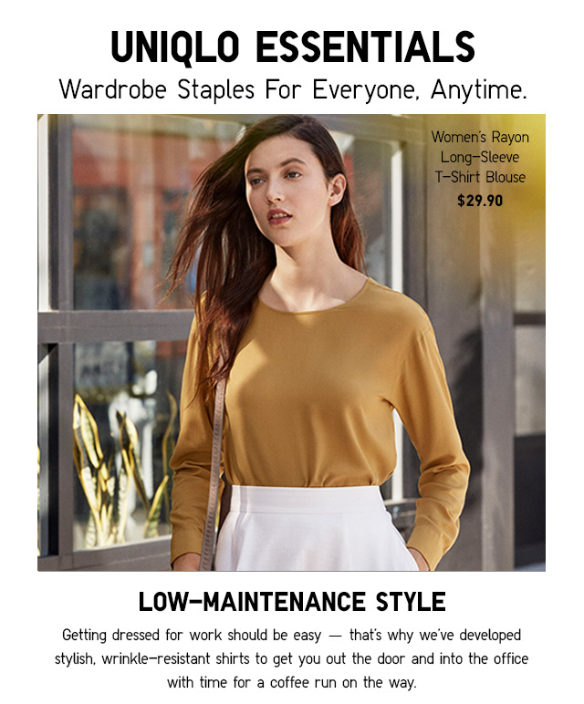 ESSENTIALLY UQ - WARDROBE STAPLES FOR EVERYONE - SHOP NOW