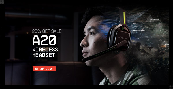 LIMITED TIME SALE - 20% OFF ASTRO A20 WIRELESS HEADSET