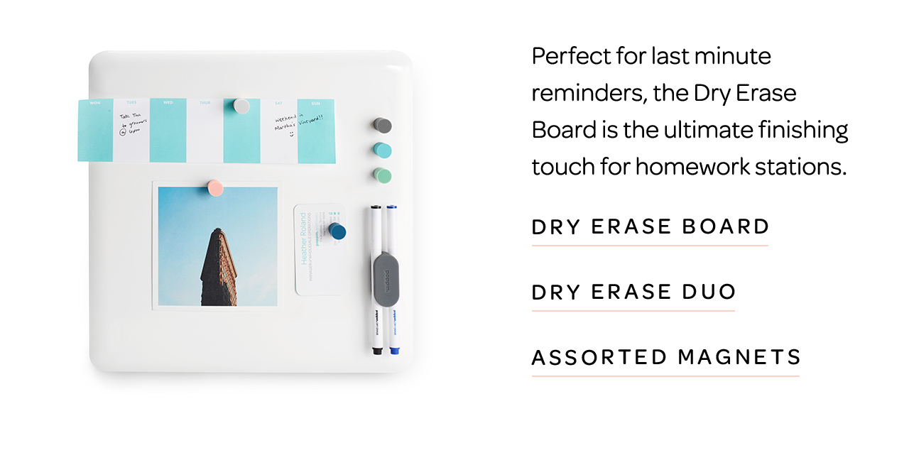 Dry Erase Board and Accessories