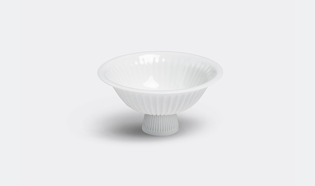 'Ts' bowl with foot by Pili Wu for Lyngby Porceln