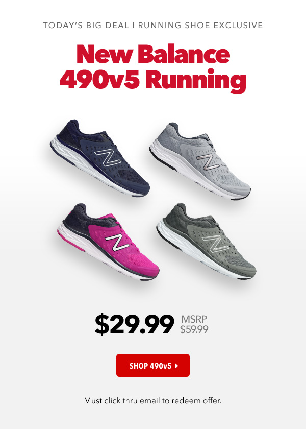 finest selection 772f0 91c3d Joe's New Balance Outlet: Run Don't Walk! 490v5 Just $29.99 ...