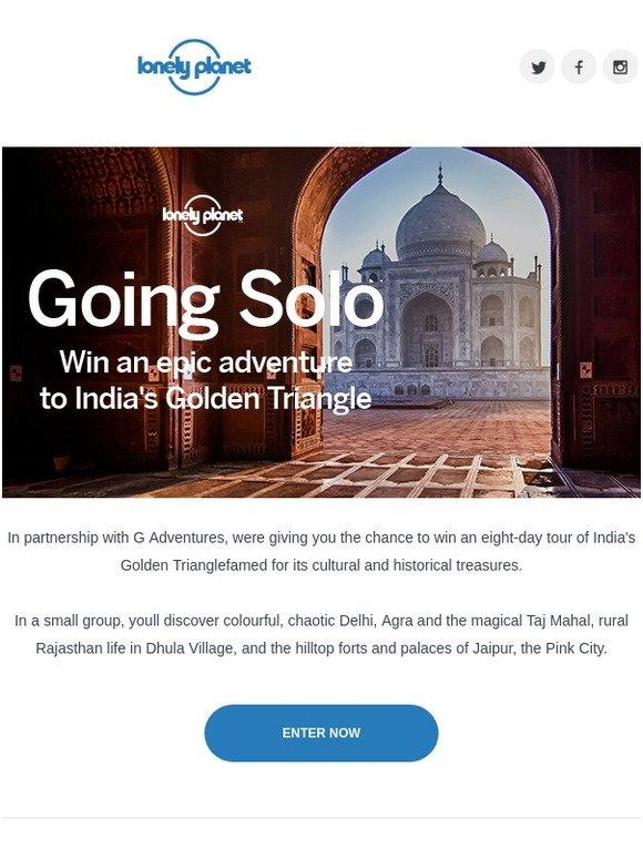 Lonely Planet Publications Win An Epic Solo Trip To India Milled