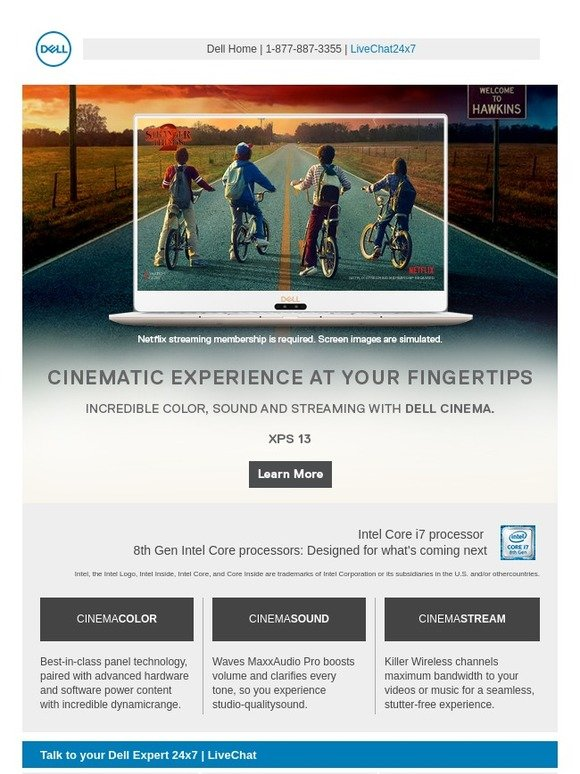 Dell: (1) invitation: You're authorized to enjoy Dell Cinema