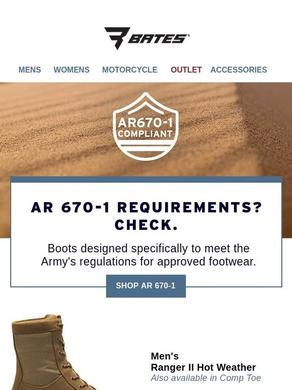 Bates Footwear  AR 670-1  Boots Built to Military Specifications ... e074c84e6d