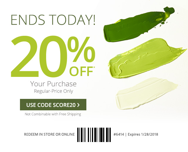 20%* off your regular-price purchase. Use core SCORE20.