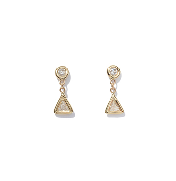 Jacquie Aiche Trillion Diamond Drop Studs $2,325