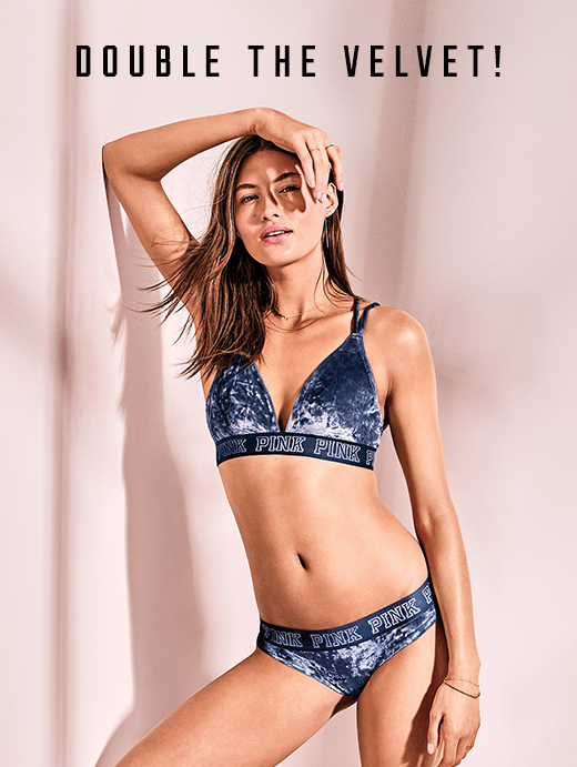 94c6aa35a9  20 PINK VELVET BRA AND PANTY TO REDEEM OFFER IN-STORES  Offer valid  January 30 through February 4