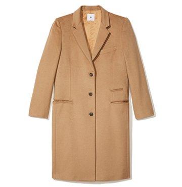 goop Label Gwyneth Camel Crombie Coat $1,395