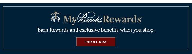 MY BROOKS REWARDS | ENROLL NOW