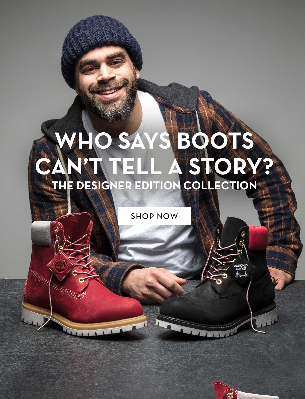 Who Says Boots Can't Tell A Story? The Designer Edition Collection Shop Now