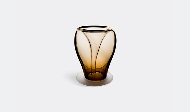 Glass plant pot, large by Valner Glass