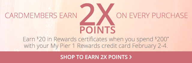 Cardmembers earn 2X points. Shop to earn 2X points.