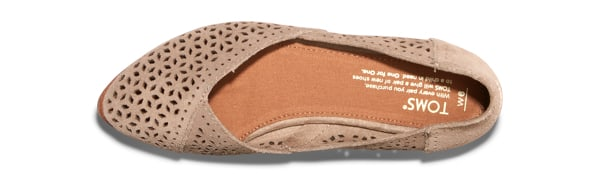 TOMS: Perforated suede heels and flats