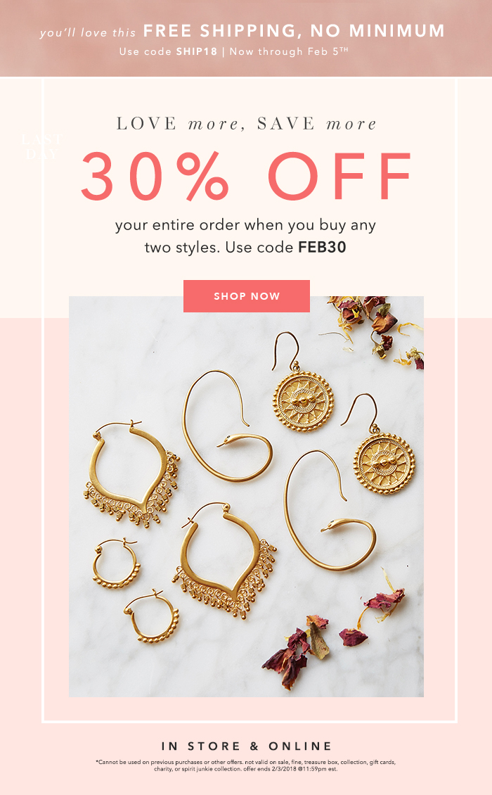 Satya Jewelry: Buy More and Save Just in Time for