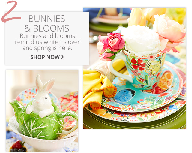 Bunnies & blooms, shop now.