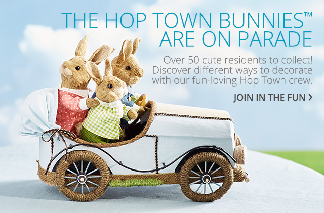 The hop town bunnies are on parade. Join in the fun.