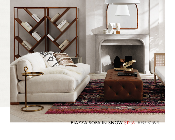 Piazza Sofa In Snow