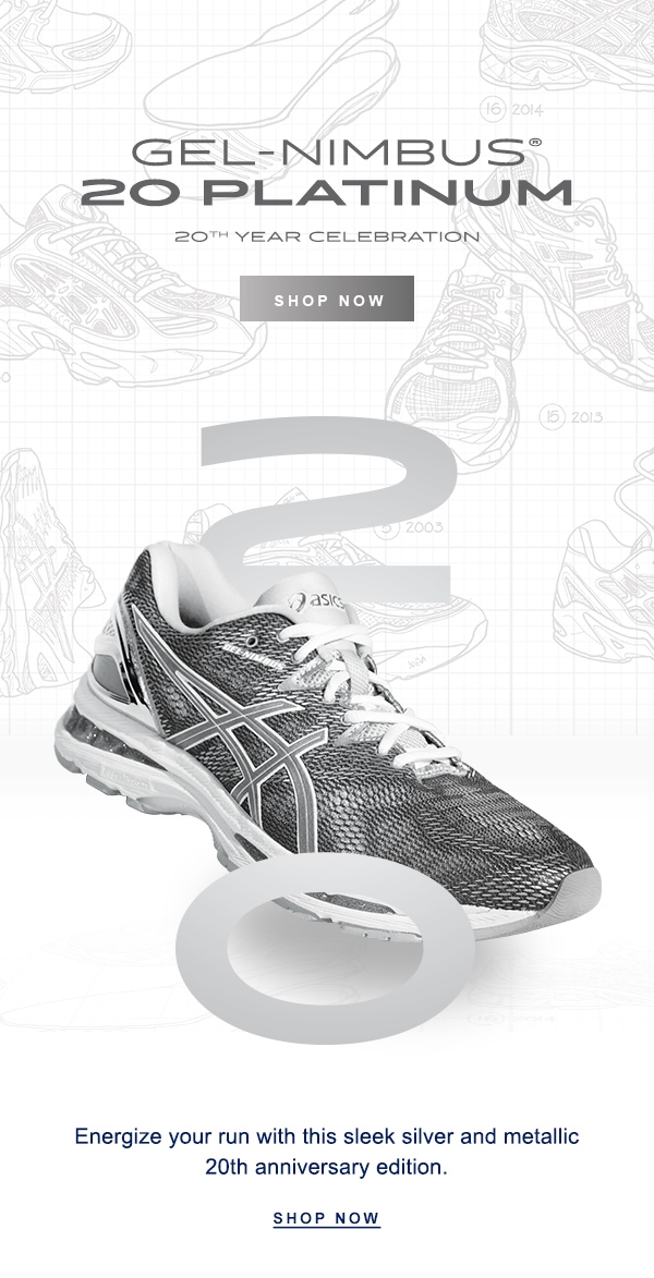 ASICS: Limited Edition: GEL-NIMBUS® 20 Platinum | Milled