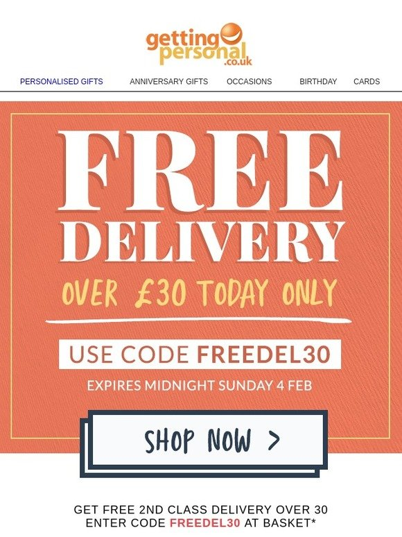 Getting Personal Grab Free Delivery When You Spend Over 30