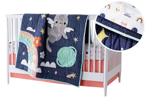 Dreaming of Space Crib Bedding