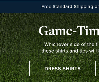 GAME-TIME DECISION | DRESS SHIRTS