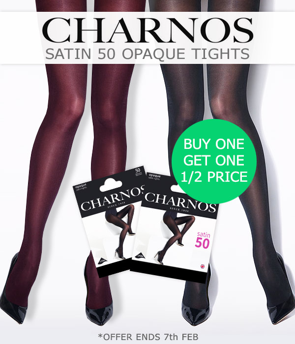 e0974931d80 UK Tights  Buy 1 Get 1 Half Price Charnos Satin 50 Opaque Tights ...