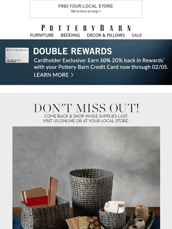 Pottery Barn Don T Miss Out On These Great Items Milled