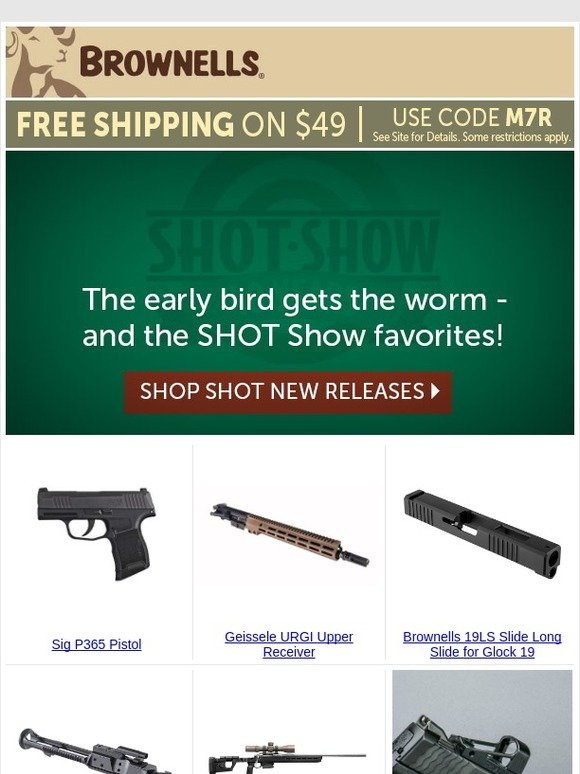 Brownells: Saw it at SHOT? Order it TODAY! | Milled