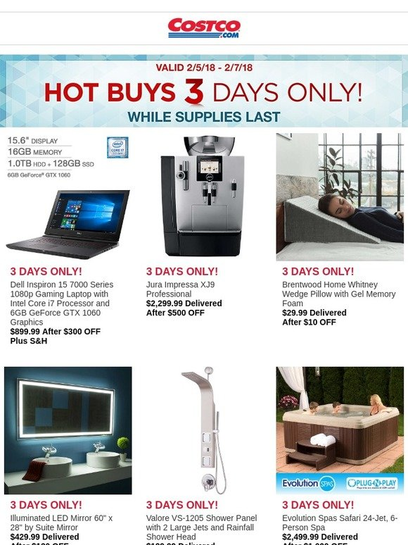 Costo Hot Buys Start Today 3 Days Only Milled