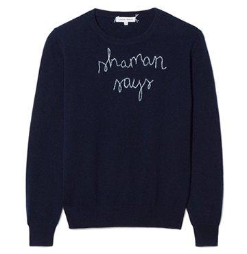 Lingua Franca x goop Shaman Says Sweater $400