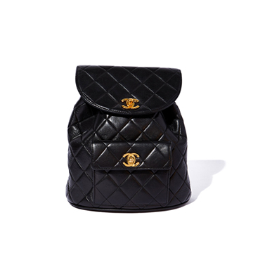 What Goes Around Comes Around Chanel Vintage Lambskin Backpack $5,500