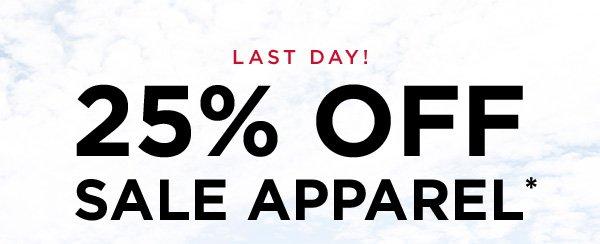 25% OFF SALE APPAREL*