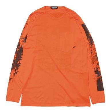 e9322198 Stone Island Shadow Project Mako Jersey Garment Dyed LS T-Shirt Orange